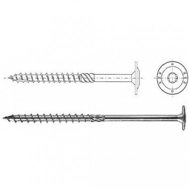 CT 08120 tesársky skrutka s tanierovou hlavou 8x120 Domax 320812