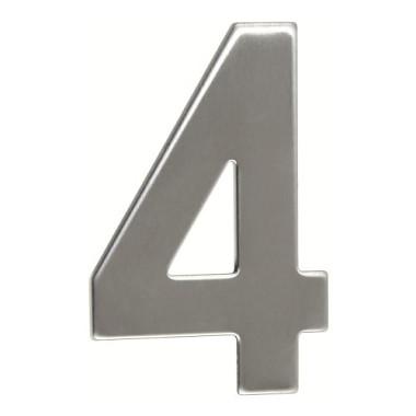 číslo domovní č.4  95mm nerez