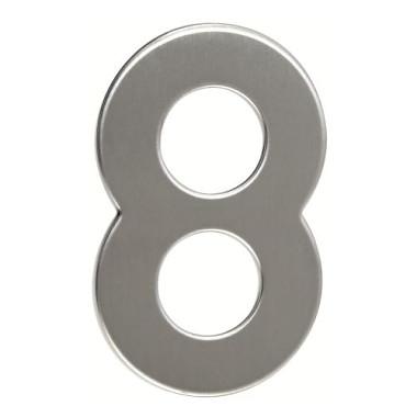 číslo domovní č.8  95mm nerez