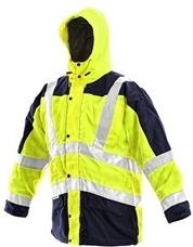 bunda LONDON výstražná 5 V 1 pánská žluto-modrá