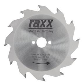 Kotúč k ručnej okruž.pile HM 150x2,6x20 ploché ozubenie = 12 RAXX 1205011
