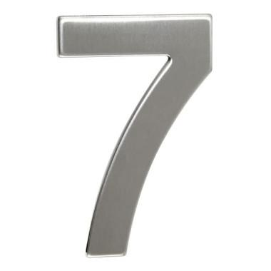 číslo domovní č.7  95mm nerez