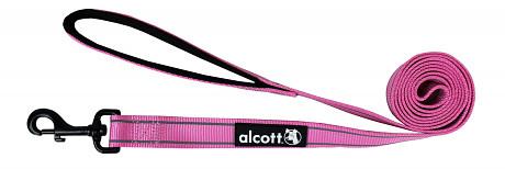 Alcott reflexné vodítko pre psy, ružové, veľkosť M