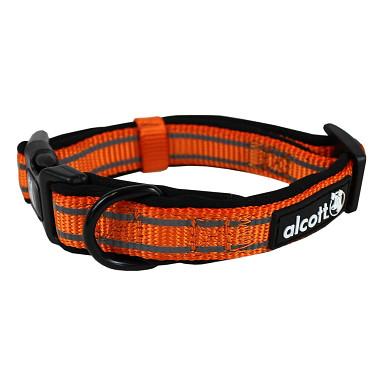 Alcott reflexné obojok pre psy, oranžový, veľkosť S