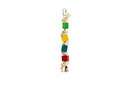 Karlie Hračka pre vtáky drevená farebná so zvončekom 20cm