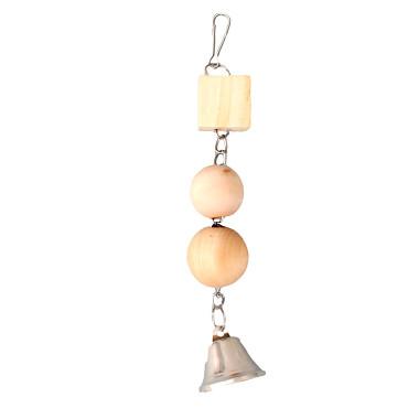 Flamingo Hračka vták drevo / kov sa zvončekom 25cm