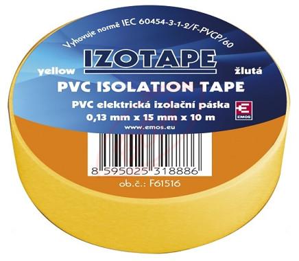 EMOS SK Páska izolačná 15/10 žltá PVC