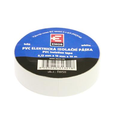 EMOS SK Páska izolačná 15/10 biela PVC