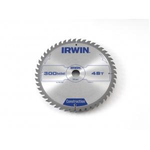 IRWIN Pílový kotúč s SK plátkom, 350x30 mm, 40 zubov, stolové a pokosové píly, Construction, I350 / 40