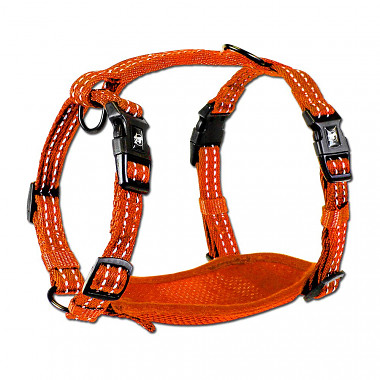 Alcott reflexné postroj pre psov, oranžový, veľkosť M