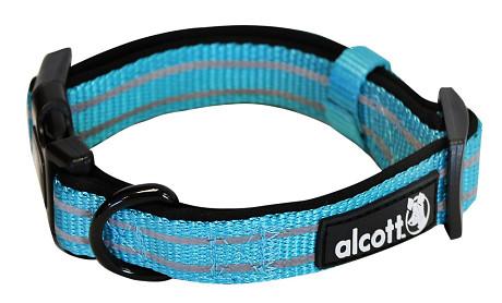 Alcott reflexné obojok pre psy, Adventure, modrý, veľkosť S