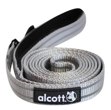 Alcott reflexné vodítko pre psy, sivé, veľkosť S