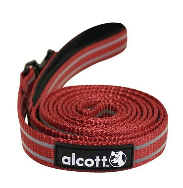 Alcott reflexné vodítko pre psy, červené, veľkosť S