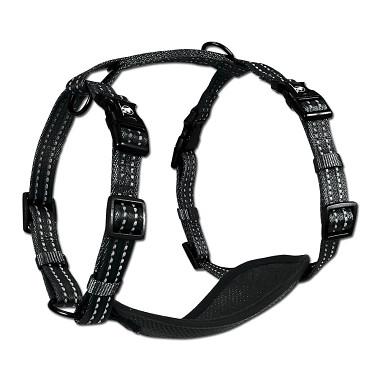Alcott reflexné postroj pre psov, čierny, veľkosť S
