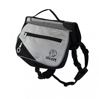 Alcott batoh pre psov, šedý, veľkosť M