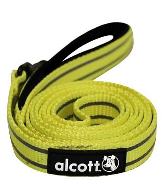 Alcott reflexné vodítko pre psy, žlté, veľkosť S
