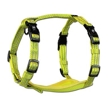 Alcott reflexné postroj pre psov, žltý, veľkosť L