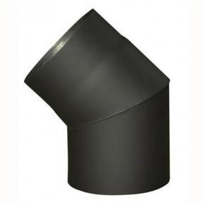 koleno dymové 150mm / 45st.t.1,5mm ČER