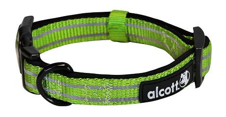 Alcott reflexné obojok pre psy, Adventure, zelený, veľkosť L