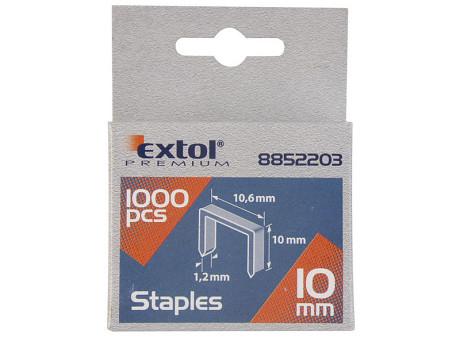 EXTOL PREMIUM spony 10mm, 11.3x0.52x0.70mm, balení 1000ks 8852503