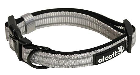 Alcott reflexné obojok pre psy, Adventure, šedý, veľkosť S