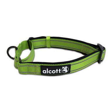Alcott reflexné obojok pre psy, Martingale, zelený, veľkosť M