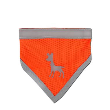 Alcott reflexné šatka pre psov, oranžový, veľkosť M