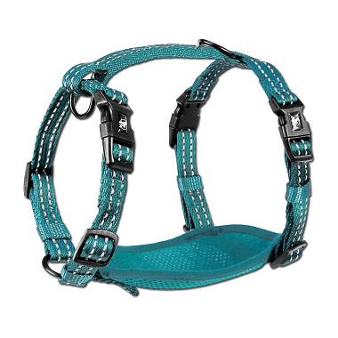 Alcott reflexné postroj pre psov, modrý, veľkosť L