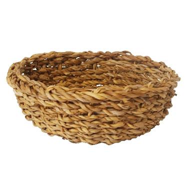 košík guľatý strednej pr.25x11cm morská tráva