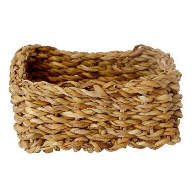 košík hranatý nízky malý 18x18x8cm morská tráva