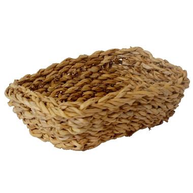 košík hranatý vysoký malý 18x18x14cm morská tráva