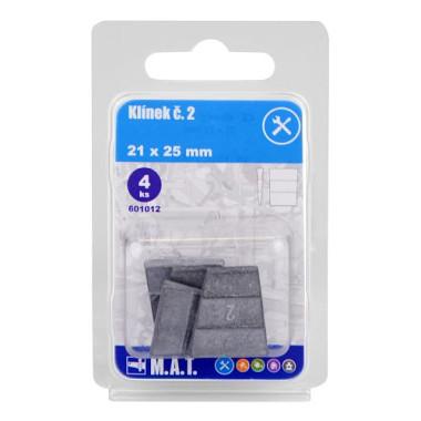 - Klin č.2, 21x25mm (4ks)