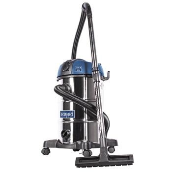 ASP 30 PLUS - priemyselný vysávač na suché / mokré vysávanie 30 l s mechanickým oklepom filtra