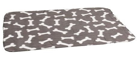 Karlie Fleecová deka šedá kosť 100x70cm