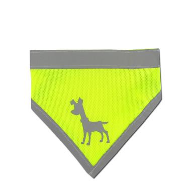 Alcott reflexné šatka pre psov, žltý, veľkosť S