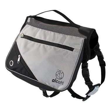 Alcott batoh pre psov, šedý, veľkosť L