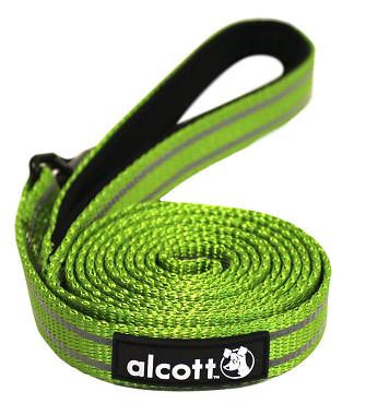 Alcott reflexné vodítko pre psy, zelené, veľkosť L